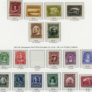 1910-47 The outstanding mint collection inc. 1910 litho. per...