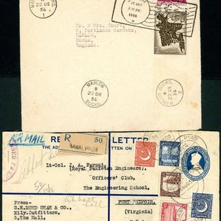 MID 20th CENTURY CARDS/COVERS PH GROUP (PLUS DUTCH NEW GUINE...
