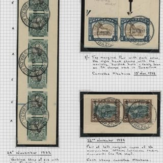 THE STAMPS OF SOUTH AFRICA USED IN SWAZILAND: 31 Dec. 1932 e...