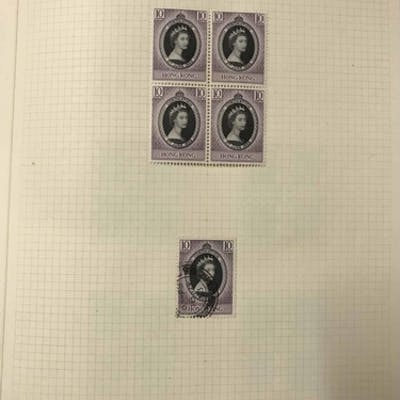 ALBUM WITH THE COMPREHENSIVE QEII MINT & USED COLLECTION TO ...