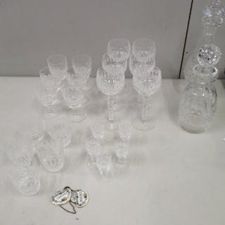 Waterford Coleen pattern crystal comprising a set of six sma...