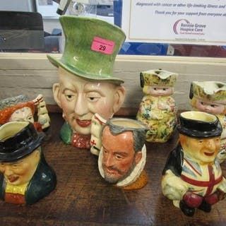 A quantity of various character and Toby jugs to include a l...