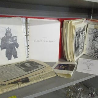 Two folders of Laurence Olivier ephemera including theatre p...
