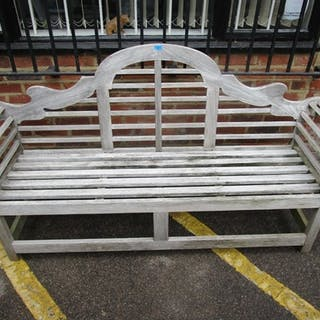 Charles Verey Collection Lutyens style wooden garden bench, ...