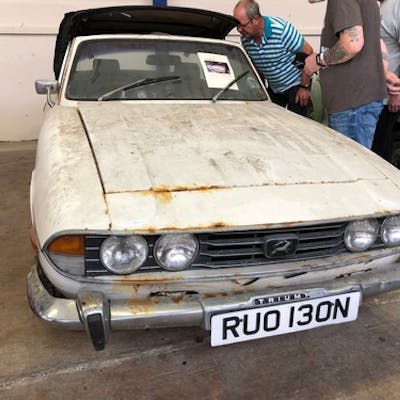 A 1974 Triumph Stag project, registration number RUO 130N, w...