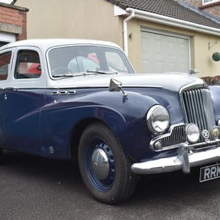 A 1957 Sunbeam Talbot 90 saloon, registration number RRK 420...