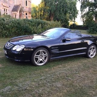 A 2002 Mercedes-Benz SL55 AMG, registration number LY52 KYV,...