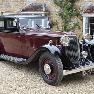 A 1934 Armstrong-Siddeley Special Burlington sports saloon, ...