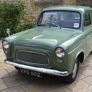A 1958 Ford Anglia 100E, registration number VFO 682, chassi...