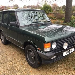 A 1993 Range Rover Vogue SE four door classic, registration ...