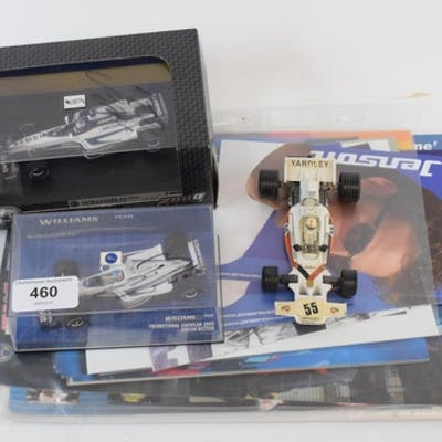 Assorted F1 promotional material, including a Minichamps Wil...