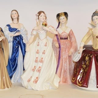 Assorted Coalport limited edition porcelain figures, of ladi...