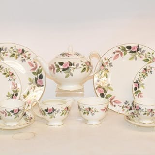 A Wedgwood Hathaway Rose pattern tea, dinner and coffee serv...