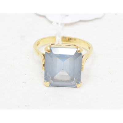 **Revised estimate** An 18ct gold cocktail ring, approx. rin...