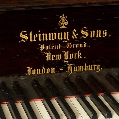 A Steinway grand piano, in a rosewood case, 51616, c.1884 Se...