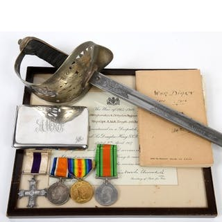 A group of four medals, awarded to Captain Angus McKenzie Fo...