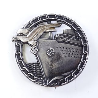 A German Blockade Runners badge with maker's marks, length 5...