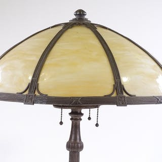 An early 20th century Millar's electroplate table lamp, with...