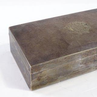 A Victorian rectangular silver cigarette box, by Wright & Da...