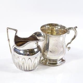 A silver christening mug of baluster form, hallmarks Cheste...