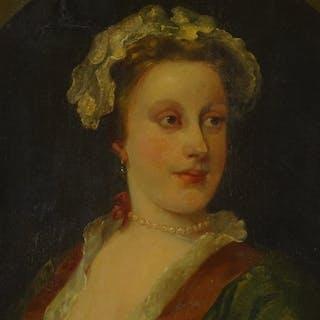 After William Hogarth, 19th century oil on canvas, portrait ...
