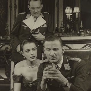 "Angus McBean, photograph circa 1960, actors on set, 10"" x 7...."