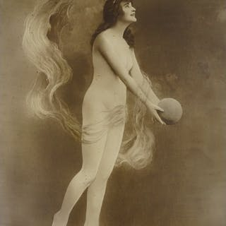 A French School, erotic photograph circa 1910, image size 23...