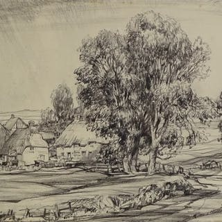 """Ernest Greenwood, watercolour, French chateau, 10"""" x 14"""", an..."""