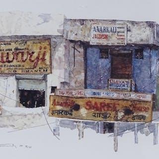 Mat Barber Kennedy, colour print, American street scene, sig...