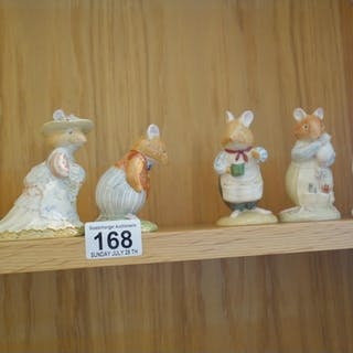 Royal Doulton Beatrix Potter figurines, all mice from the Be...