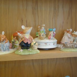 Royal Doulton Beatrix Potter figurines, groups, including He...