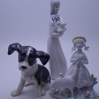Nao style figurine of a girl a Rosenthal figurine of a seate...