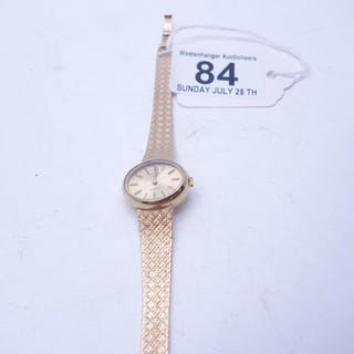 Superb Ladies 9ct gold watch, makers Rotary, appears to be w...