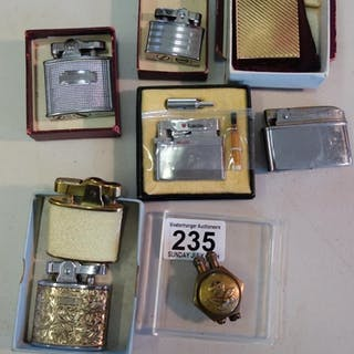 8 assorted vintage cigarette lighter all petrol, including 1...