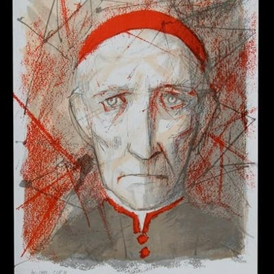 Michel Ciry (1919-2018) - Portrait of a Cardinal - signed in...