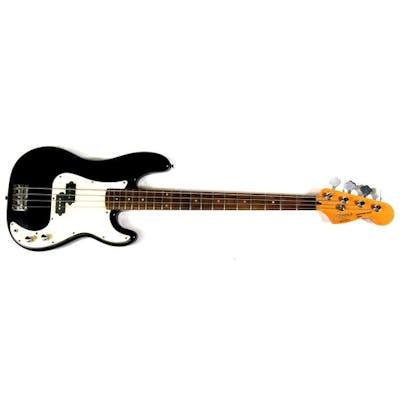 A Korean Squier Precision base Fender guitar, serial no. 100...