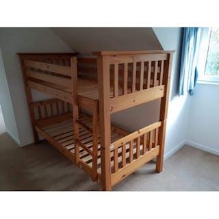 Pine Bunk Beds Current Sales Barnebys Co Uk