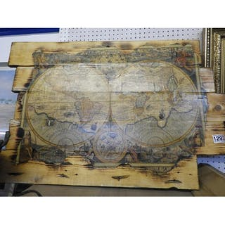 Decorative Wooden Wall Hanging - World Map – Current sales ... on