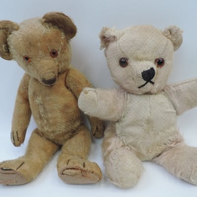2x Vintage Teddy Bears - One Chad Valley