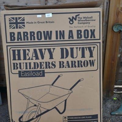 Heavy duty wheelbarrow BNIB