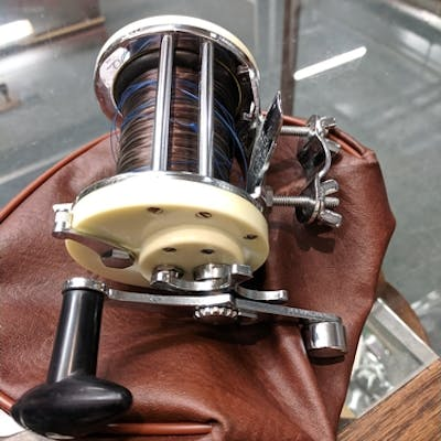 Mitchell 600 spinner fishing reel & case