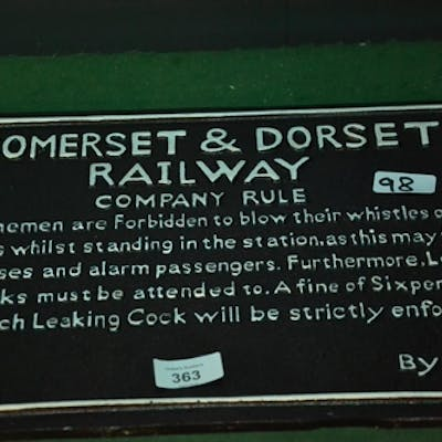 Somerset and Dorset sign