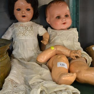 Armand Marseille bisque head doll (551.75) + 1 other