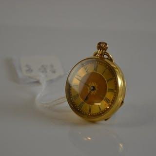 18ct gold ladies pocket watch, gross weight 32 grams