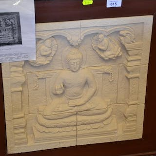 Framed Dhyani Buddha Relief