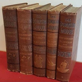 'The Badminton Library' 5 vols – Skating, Shooting, Ya...