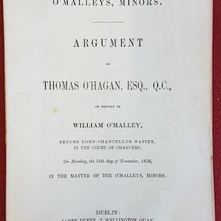 O'Malleys, Minors. Argument of Thomas O'Hagan, Esq. Q. C. On...