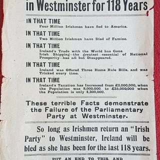 You Have been Represented for 118 Years. [Sinn Fein. 1918]. ...