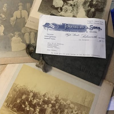 A collection of photographs and ephemera, mostly relating t...
