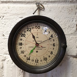A Seth Thomas United States Army Air Forces wall clock, with...